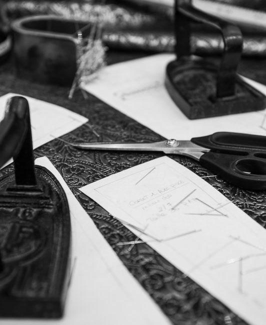 table de travail de Galatée Couture