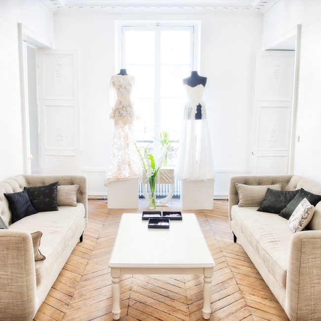photo du showroom de Galatée Couture